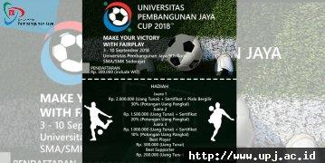 UNIVERSITAS PEMBANGUNAN JAYA CUP 2018
